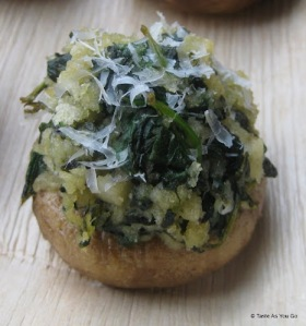 Spinach-Stuffed Mushrooms (Photo source: Tasteasyougo.com, used with permission)