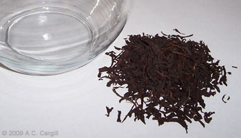 Overblending can produce a taste that's just plain bland, unlike this tasty pure Ceylon black tea. (Photo source: A.C. Cargill, all rights reserved)