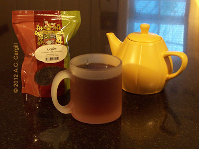 By the mugful or the potful, this Ceylon Black Tea is a real taste pleaser. (Photo source: A.C. Cargill, all rights reserved)