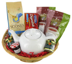 Start a tea routine with the Afternoon Tea Gift Basket (Photo source: The English Tea Store)