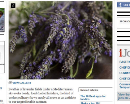 Eat purple: English lavender is perfect for cooking, both savoury and sweet (Photo source: screen capture from site)