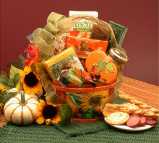 Fall Harvest Snacker Gift Basket (Photo source: The English Tea Store)