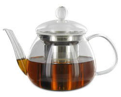 The Petit Teapot — glass is great for achieving that twinkly quality. (Photo source: The English Tea Store)