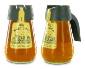 Pure Honey by Aleluya in Easy Pour Cruet, made and packaged in Argentina and perfect for tea, toast, oatmeal, and so much more. (Photo source: composite from screen capture from The English Tea Store)