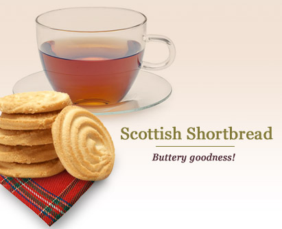 You tread dangerously when interrupting a tea drinker enjoying Scottish Shortbread! (Photo source: The English Tea Store)