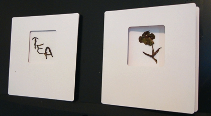 A couple of cards I created by recycling spent tea leaves. (Photo source: article author)