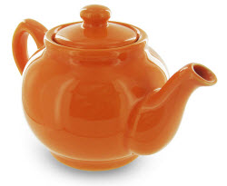 Teapot - Price & Kensington - 2 Cup (bright orange, one of 9 colors) (Photo source: The English Tea Store)