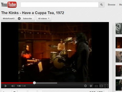 The Kinks - Have a Cuppa Tea - click image to hear song (Photo source: screen capture from site)