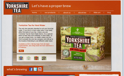 Yorkshire Tea for Hard Water (Photo source: screen capture from site)