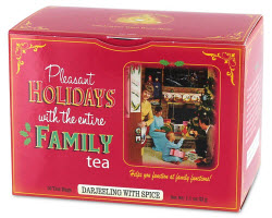 Blue Q Pleasant Holidays with Family Tea  (Photo source: The English Tea Store)