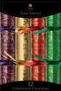 Christmas Crackers - Traditional Family Crackers - 12 pack (Photo source: The English Tea Store)