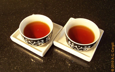His and Hers sipper cups. Take a sniff first! (Photo source: A.C. Cargill, all rights reserved)