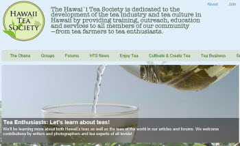 Hawaii Tea Society (Photo source: screen capture from site)