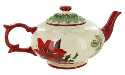 Take care when pouring from such a pretty teapot to avoid an embarrassing and frustrating tea moment. (Photo source: The English Tea Store)