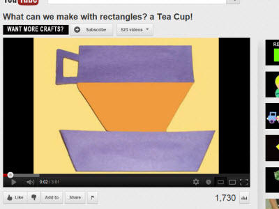 Make a paper teacup while your tea is steeping. Click on image to watch the video. (Photo source: screen capture from site)