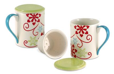 Snowflakes Tea Infuser Mug (Photo source: The English Tea Store)