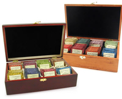 Taylors of Harrogate Filled Tea Chests (Photo source: The English Tea Store)
