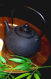 As a wise tea person reminded me recently, cast iron teapots can be put over direct flames to heat water and then used to steep the tea. (Photo source: A.C. Cargill, all rights reserved)