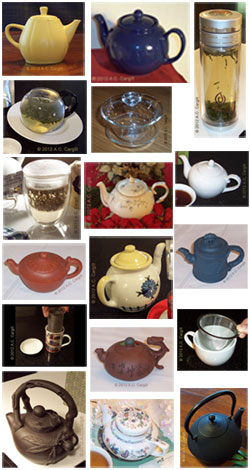 A steeper for every type of tea…and then some! (Photo source: A.C. Cargill, all rights reserved)