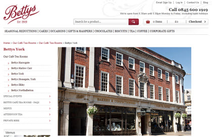 Bettys in York (Photo source: screen capture from site)