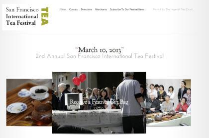 San Francisco International Tea Festival (Photo source: screen capture from site)