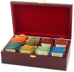 Tea Chest Filled with Taylors of Harrogate Tea Bags (Photo source: The English Tea Store)