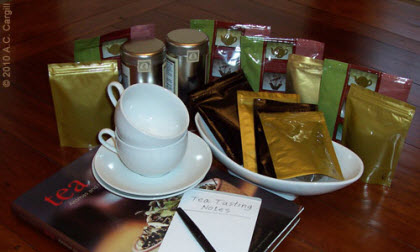 Steep a cuppa and settle in for some great reading about tea! (Photo source: A.C. Cargill, all rights reserved)