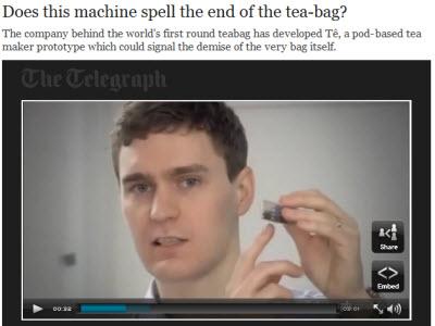 Tê, a pod-based tea maker prototype (Photo source: screen capture from site)