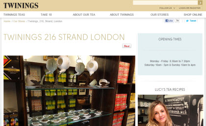 Twinings London Tea Room (Photo source: screen capture from site)
