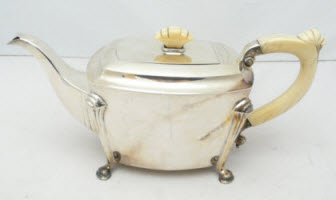 Sheffield Silver and Ivory Teapot (Photo source: screen capture from site)