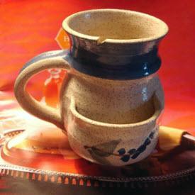 My handmade mug, elegantly handling any teabag. (Photo source: article author)