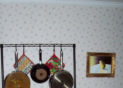 That childhood habit of letting my eyes wonder round and round a wallpaper pattern has persisted to adulthood, causing burnt toast and oversteeped tea! This was the wallpaper in a previous house we owned. (Photo source: A.C. Cargill, all rights reserved)