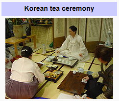 Korean tea ceremony from Wikipedia (Photo source: screen capture from site)