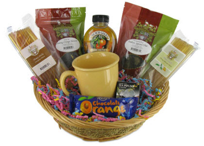 Oranges & Spice Teatime Gift Basket — a good way to start getting misTEA-eyed!