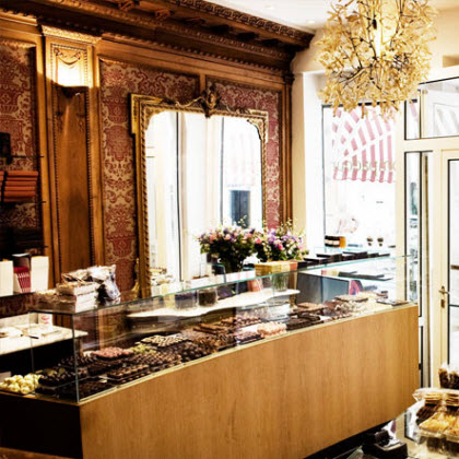 A display of chocolates at Pompadour (Photo source: screen capture from site)