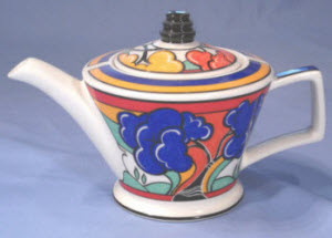Sadler Clarice Cliff Style Teapot (Photo source: screen capture from site)