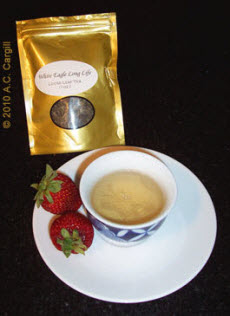 White Eagle Long Life White Tea (Photo source: A.C. Cargill, all rights reserved)