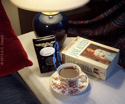 A bit of Earl Grey Cream tea with my Jane Austen.