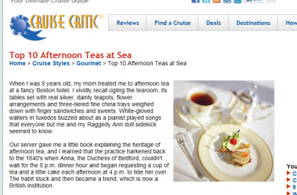 Top 10 Afternoon Teas at Sea (Photo source: screen capture from site)