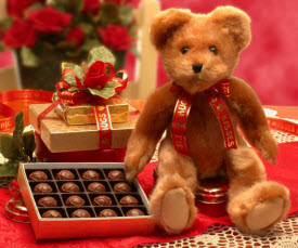Valentine's Gift Basket - Truffle Teddy Bear (Photo source: The English Tea Store)