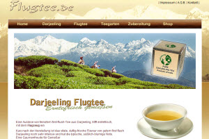 "One of several sites carrying flugtee (""flight tea"") (Photo source: screen capture from site)"