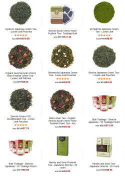 Japanese teas (Photo source: The English Tea Store)