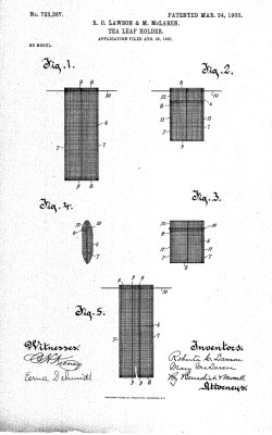 Tea Leaf Holder patent diagram (Photo source: screen capture from site)