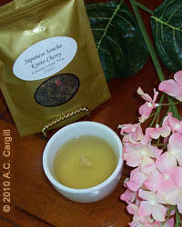 Sencha Kyoto Cherry Rose Festival Green Tea  (Photo source: A.C. Cargill, all rights reserved)