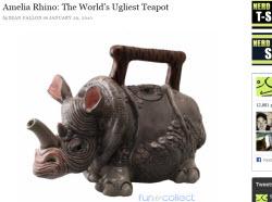 Amelia Rhino: The World's Ugliest Teapot (Source: screen capture from site)