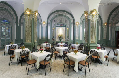 The Ladies' Tea Room at The Prince George (Photo source: screen capture from site)