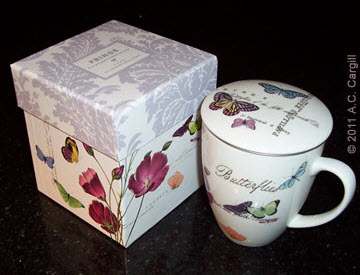Cup with matching lid and storage box. (Photo source: A.C. Cargill, all rights reserved)