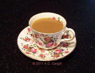 A nice cuppa to sip while remembering mom! (Photo source: A.C. Cargill, all rights reserved)