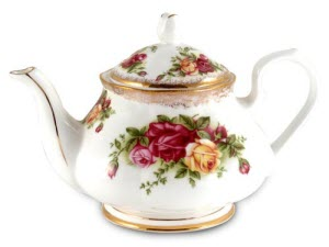 Wild Roses Bone China Teapot (Photo source: The English Tea Store)