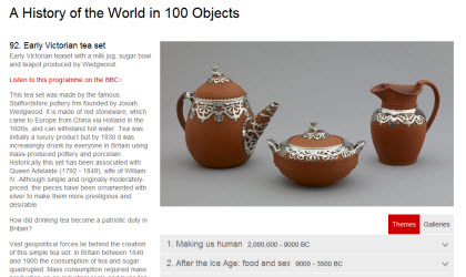 A History of the World in 100 Objects (screen capture from site)